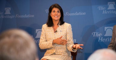 President-elect Donald Trump tapped South Carolina Gov. Nikki Haley, a Republican, to serve as United States ambassador to the United Nations. (Photo: The Heritage Foundation/Jennifer Angeloro)