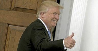 President-elect Donald Trump at Bedminster Township, New Jersey, on Nov. 20. (Photo: Peter Foley/Zuma/Newscom)