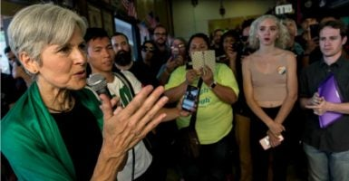 Green Party presidential candidate Jill Stein speaks to supporters at a campaign stop on Sept. 1 in Los Angeles. (Photo: Brian Cahn/ZUMA Press /Newscom)
