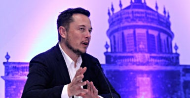 Elon Musk speaks to reporters Sept. 27 in Guadalajara, Mexico, after announcing plans to colonize Mars at the International Astronautical Congress. (Photo: Reuters /Newscom)