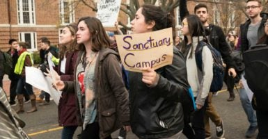 A Georgia state lawmaker says sanctuary campuses should not be federally funded. (Photo: Albin Lohr-Jones/Pacific Press /Newscom)