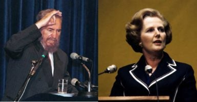 Cuba's Fidel Castro, left, and Britain's Margaret Thatcher, right, stood on opposite ends of the Cold War. (Left Photo: Mohammad Farnood/SIPA /Newscom; Right Photo: Pa/ZUMA Press/Newscom)