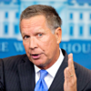 Ohio Gov. John Kasich, here speaking Sept. 16 to reporters at the White House, has 10 days to sign or veto a bill prohibiting the abortion of a baby with a detectable heartbeat -- which generally occurs at about six weeks. (Photo: Michael Reynolds/EPA/Newscom)