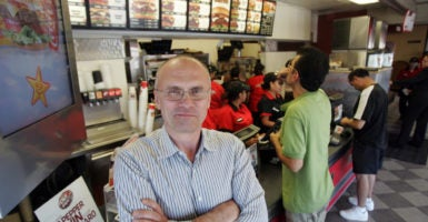 President-elect Donald Trump intends to nominate Andy Puzder, CEO of CKE Restaurants, for secretary of the Department of Labor. (Photo: Ringo Chiu/Zuma Press/Newscom)