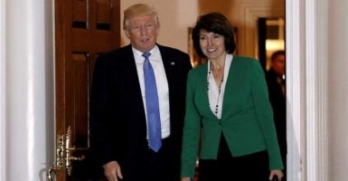 President-elect Donald Trump, left, plans to nominate House Republican Conference Chairwoman Cathy McMorris Rodgers, right, to be the secretary of interior. (Photo: Mike Segar/Reuters/Newscom)