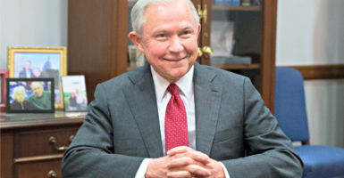 Sen. Jeff Sessions, R-Ala., pictured here Nov. 29 on Capitol Hill after Donald Trump chose him to be attorney general, is a pioneer in criminal justice reform. (Photo: Michael Reynolds/EPA/Newscom)