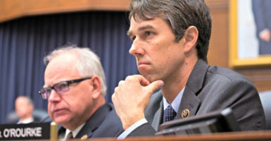 Rep. Beto O'Rourke,  D-Texas, here during a  House Armed Services Committee hearing in June 2015, is the only incumbent Democrat to have signed a pledge to back term limits for Congress. (Photo: Jeff Malet /Newscom)