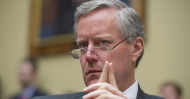Rep. Mark Meadows, R-N.C., is pushing for a repeal of Obamacare during Congress' first 100 days. Meadows, who just took over as chairman of the House Freedom Caucus, said GOP lawmakers can then implement a replacement plan within 17 to 18 months. (Photo: Tom Williams/CQ Roll Call/Newscom)