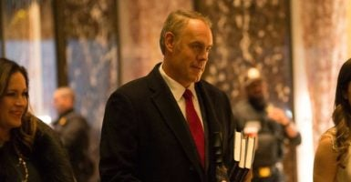 Rep. Ryan Zinke, R-Mont., has been selected to be the secretary of the interior. (Photo: Polaris /Newscom)