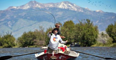 The Warriors and Quiet Waters Foundation, a nonprofit based in Bozeman, Montana,  brings together combat veterans of Iraq and Afghanistan and teaches them how to fly fish. (Photo: Studio MacLeod)