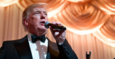 President-elect Donald Trump, here celebrating New Year's Eve at Mar-a-Lago Club in Palm Beach, Florida, faces resistance to his Cabinet choices from Senate Democrats. (Photo: Meghan McCarthy/Palm Beach Daily News/Zuma Wire/Newscom)