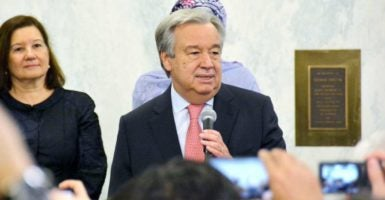 United Nations Secretary-General Antonio Guterres spoke to President-elect Donald Trump on Wednesday. (Photo: Kyodo/Newscom)