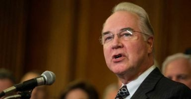 Rep. Tom Price, R-Ga., has been harshly criticized by Democrats for owning up to $300,000 worth of stocks in major health care companies. (Photo: Congressional Quarterly/CQ Roll Call/Newscom)