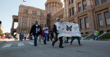 Texas Gov. Greg Abbott says he expects an anti-sanctuary city bill to pass in his state this year. (Photo: Marjorie Kamys Cotera/Polaris/Newscom)