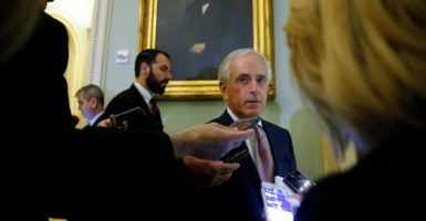 Sen. Bob Corker, along with several other Republican senators, wants to delay repeal of Obamacare taxes.(Photo: Jonathan Ernst/Reuters/Newscom)