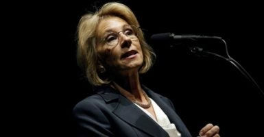 President-elect Donald Trump's education secretary pick, Betsy DeVos, was the architect of Detroit's school charter system and formerly led the Alliance for School Choice advocacy group. (Photo: Mike Segar/Reuters /Newscom)