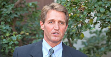 """Congress needs to focus on eliminating unnecessary spending rather than making wish lists that add to the red ink,"" says Sen. Jeff Flake, R-Ariz., speaking here in Tucson in 2014. (Photo: ZumaPress/Newscom)"
