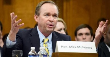 Rep. Mick Mulvaney, R-S.C., President Donald Trump's pick to head the Office of Management and Budget, testifies before a Senate committee. (Photo: Ron Sachs/dpa/picture-alliance/Newscom)