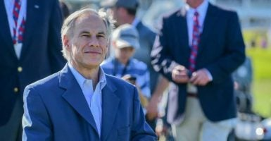 Gov. Greg Abbott, R-Texas, cut off state funds to a county that provides sanctuary to illegal immigrants. (Ken Murray/Icon Sportswire DEL/Ken Murray/Icon Sportswire/Newscom)
