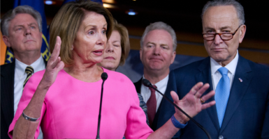 House Minority Leader Nancy Pelosi, D-Calif., refused to answer when she was asked a line of questions on abortion in 2015. (Photo: Ron Sachs /CNP/Polaris/Newscom)