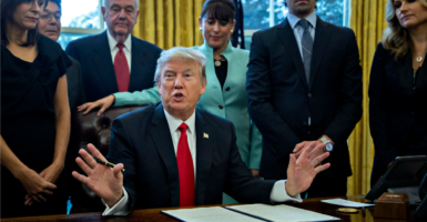 President Donald Trump's executive order on regulation is only a first step, and achieving the goal of reducing the burden of red tape will take much more. (Photo: Sipa USA /Newscom)