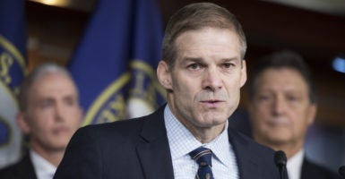 Reps. Jim Jordan, pictured, and Mark Meadows are calling on GOP leaders to allow Republicans to vote on a 2015 bill that repeals major provisions of Obamacare and strips Planned Parenthood of its federal funding. (Photo: Tom Williams/CQ Roll Call/Newscom)