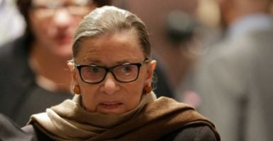 Supreme Court Justice Ruth Bader Ginsburg said that the Electoral College should be changed at a Stanford University lecture on Monday. (Photo: Joshua Roberts/Reuters /Newscom)