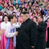 In Pyongyang, North Korean dictator Kim Jong Un greets participants in the sixth Congress of the Democratic Women's Union of Korea in this undated photo released Nov. 22, 2016.  (Photo: Korean Central News Agency/ via Reuters/Newscom)