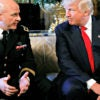 President Donald Trump with his newly named national security adviser,  Army Lt. Gen. H.R. McMaster,  on Feb. 20 at Trump's Mar-a-Lago estate in Palm Beach, Florida. (Photo: Kevin Lamarque/Reuters/Newscom)
