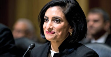 Seema Verma, the nominee for administrator of the Centers for Medicare and Medicaid Services, prepares to testify Feb. 16 before the Senate Finance Committee. (Photo: Bill Clark/CQ Roll Call/Newscom)