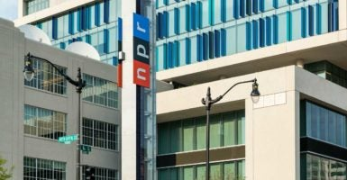 The National Public Radio national headquarters in the District of Columbia. President Donald Trump is reportedly considering defunding the Corporation for Public Broadcasting. West Virginia Gov. Jim Justice, a Democrat, has proposed eliminating all funding. (Photo: John Greim/John Greim Photography/Newscom)