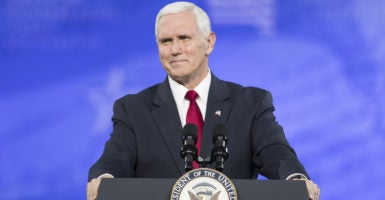 "Vice President Mike Pence told attendees at CPAC that ""Obamacare has failed and Obamacare must go."" (Photo: Michael Brochstein/ZUMA Press/Splash News/Newscom)"