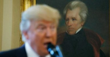 President Donald Trump has drawn many comparisons to Andrew Jackson, America's 7th president. (Photo: Kevin Lamarque/Reuters/Newscom)