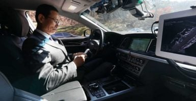Self-driving cars will be arriving soon, so lawmakers are searching for the right way to integrate them on American roads. (Photo: Yonhap News/YNA/Newscom)