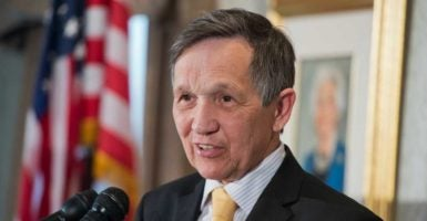 A two-time Democratic presidential candidate, Dennis Kucinich, says he was wiretapped while serving in Congress. (Photo: Tom Williams/CQ Roll Call/Newscom)