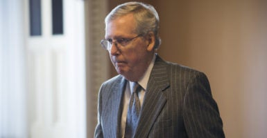 If the House GOP's Obamacare replacement plan arrives in the Senate in its current form, experts predict it could face challenges under the rules of reconciliation. Senate Majority Leader Mitch McConnell told reporters the bill could be amended once it gets to the upper chamber, though. (Photo: Jim Lo Scalzo/EPA/Newscom)