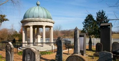 Andrew Jackson's grave at the Hermitage in Nashville, Tennessee. (Photo: Joseph Sohm Visions of America/Newscom)