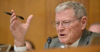 """What you're going to see next week is [Trump is] going to take this power plan that we know isn't going to work anyway and he's going to run that over,"" Sen. Jim Inhofe, R-Okla., says. (Photo: Jay Mallin/Zuma Press/Newscom)"