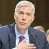 Supreme Court nominee Neil Gorsuch credits Democrats Ted Kennedy and Chuck Schumer for the Religious Freedom Restoration Act in testimony before Senate Democrats. (Photo: Ron Sachs/Sipa/Newscom