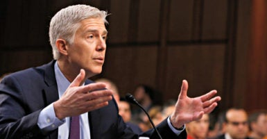 """It has been reaffirmed many times, I can say that,""  Supreme Court nominee Neil Gorsuch says during testimony March 21 before the Senate Judiciary Committee.(Photo: Jonathan Ernst/Reuters//Newscom)"