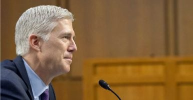 Judge Neil Gorsuch addressed accusations of sexism from a former student at his Supreme Court confirmation hearing on Tuesday. (Photo: Ron Sachs/SIPA/Newscom)