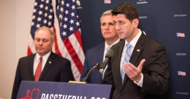 House leaders made changes to the GOP's Obamacare repeal bill that could potentially deny millions of veterans access to tax credits. (Photo: Cheriss May/TNS/Newscom)