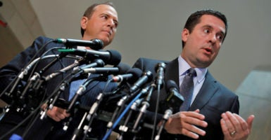 House Intelligence Chairman Devin Nunes and Rep. Adam Schiff, the panel's top Democrat, are leading the committee's investigation. (Photo: Aaron P. Bernstein/Reuters/Newscom)