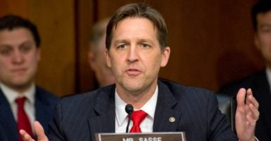 Sen. Ben Sasse, R-Neb., and other lawmakers aim at ending government bailouts in a letter to President Donald Trump. (Photo: Ron Sachs/dpa/picture-alliance/Newscom)