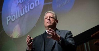 Former Democratic Vice President Al Gore advocated investigating climate skeptics. (Photo: John Amis/EPA /Newscom)