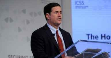 Arizona Gov. Doug Ducey signed legislation to join the balanced budget compact. Other states have also signed on to the idea of passing an amendment to control federal government spending. (Photo: Icss/Zuma Press/Newscom)
