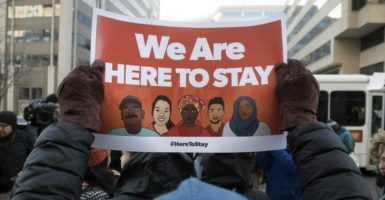 A rape case in Rockville,  Maryland involving two illegal immigrants has sparked debate over sanctuary city policies.(Photo: Kevin Dietsch/UPI/Newscom)
