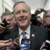 In his district for a two-week recess, Rep. Mark Meadows, R-N.C., who chairs the House Freedom Caucus, has continued to negotiate a health care bill repealing and replacing Obamacare with centrist Republicans and the White House. (Photo: Michael Reynolds/EPA/Newscom)