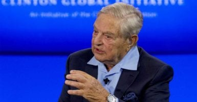 Billionaire hedge fund manager and liberal philanthropist George Soros speaks at the Clinton Global Initiative. (Photo: Brendan McDermid/Reuters /Newscom)