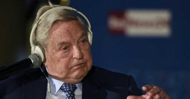 Liberal billionaire George Soros speaks in Florence, Italy. (Photo: Gio Morini/Zuma Press /Newscom)